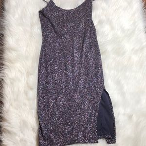 NWT Windsor Navy Glitter Mini Dress